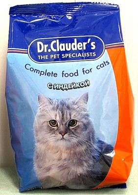 Мясные компоненты искусственных кормов для кошек