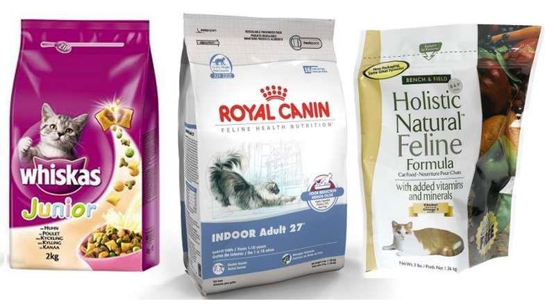 Промышленные корма для кошек