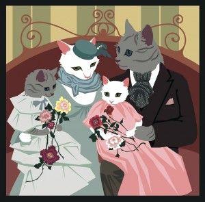Семья кошек от Ольги Петровец