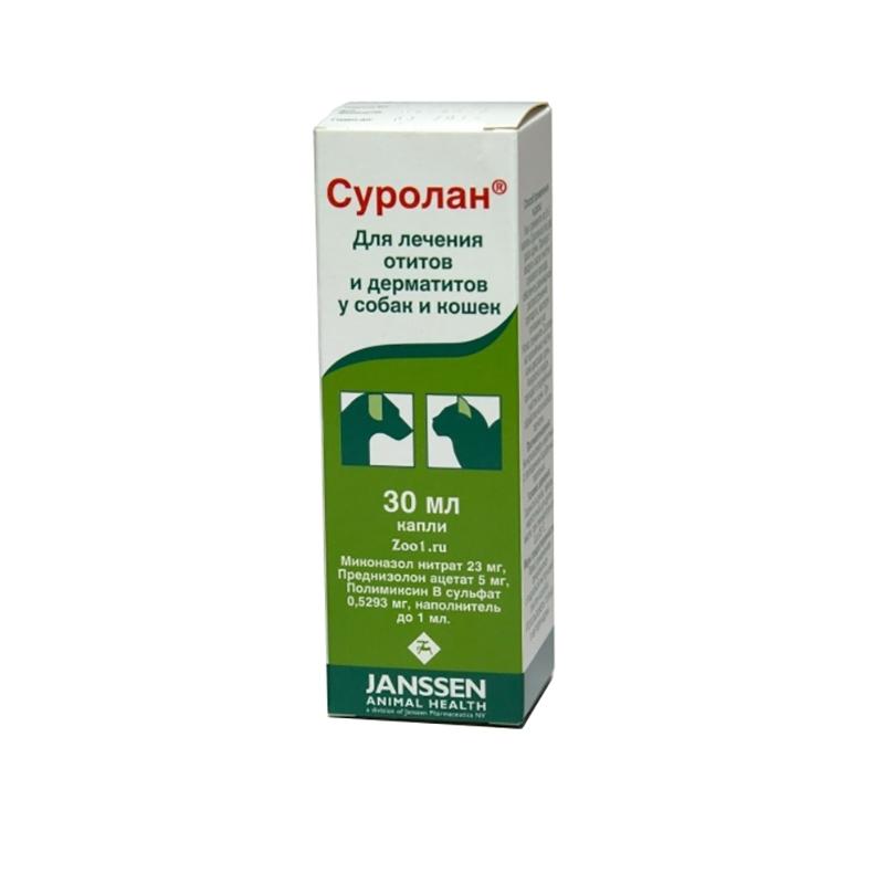 Суролан – комплексное средство, которое применяется для лечения отита