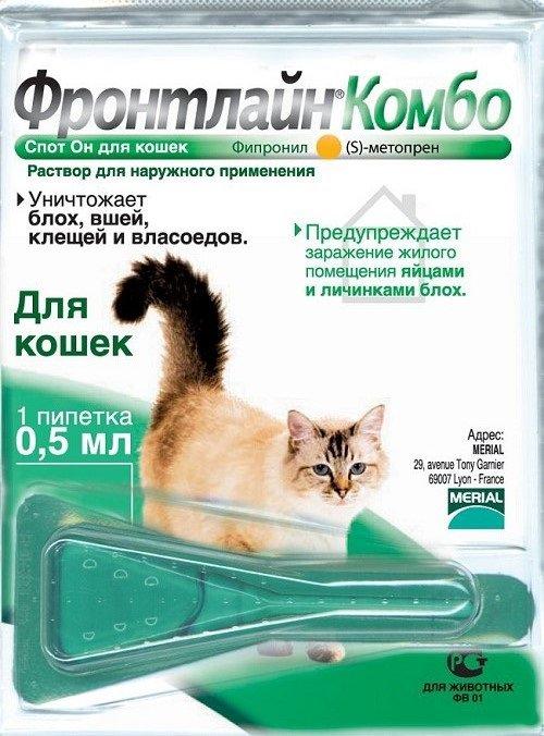 Фронтлайн от блох для котов