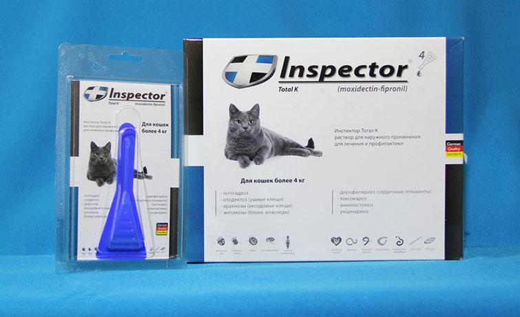 Инспектор от блох для котов